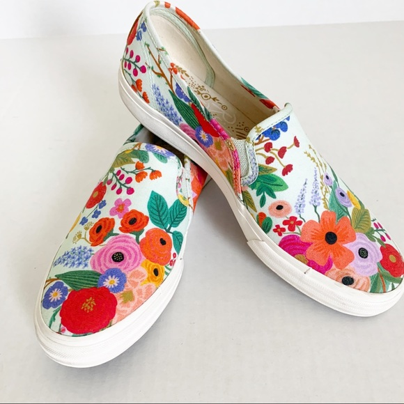 Keds Shoes - Rifle Paper Company Floral Slip On Keds 10